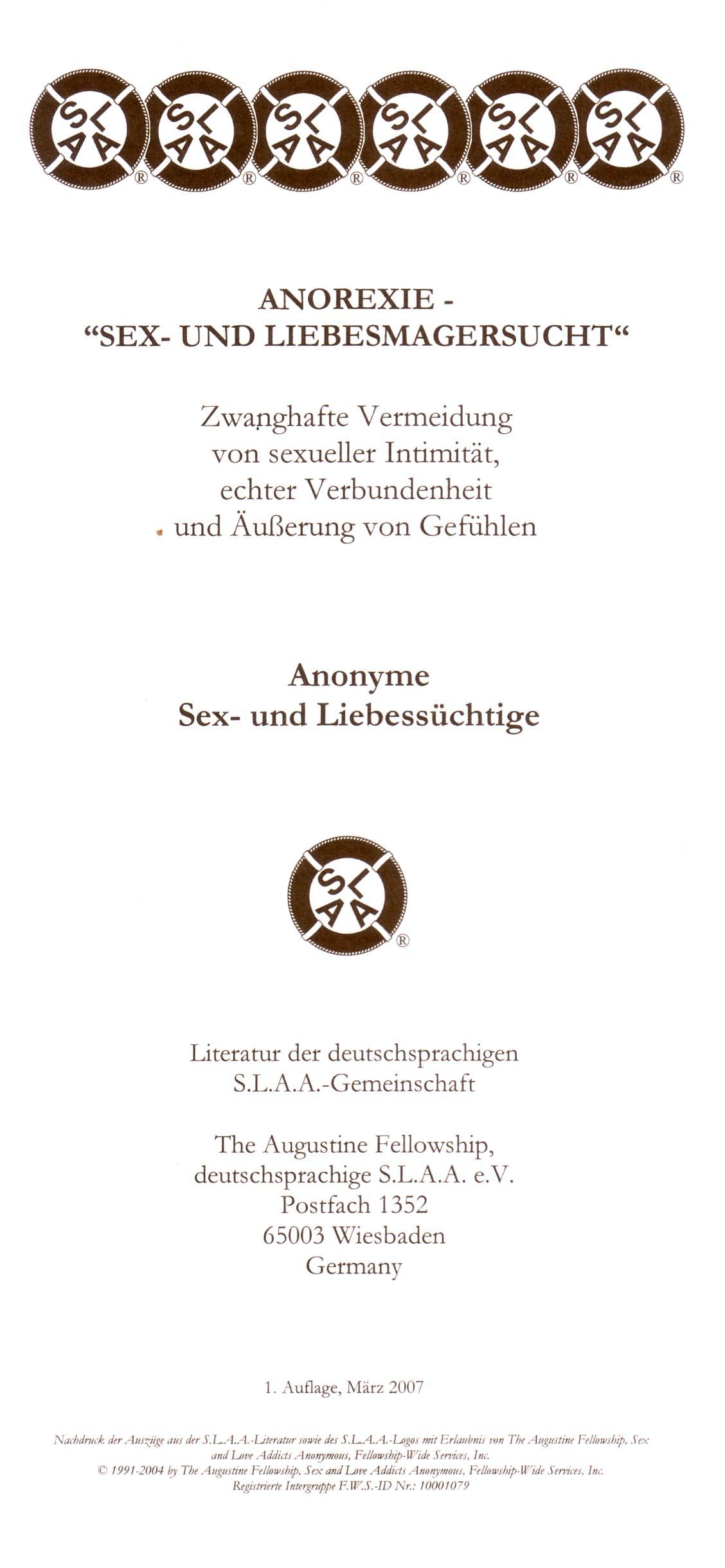 Literatur und Informationen | SLAA Deutschland