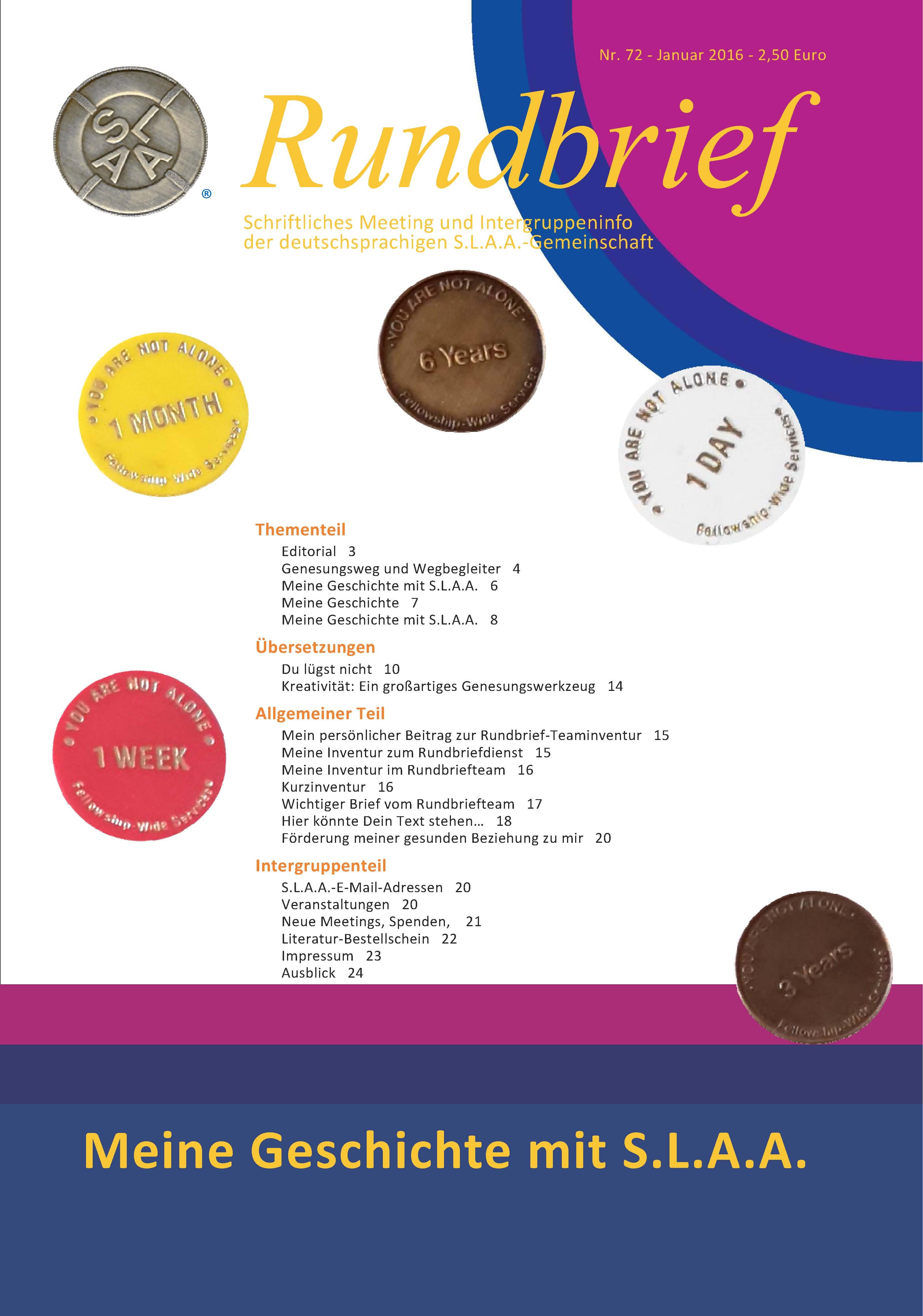 Literatur und Informationen   SLAA Deutschland